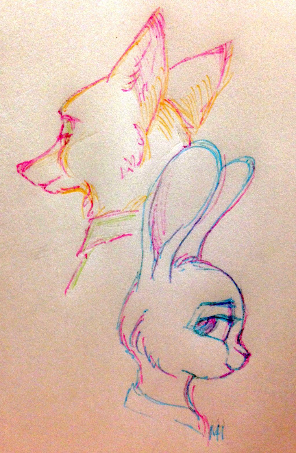 [Sketch] Zootopia by Nelchonok.deviantart.com on @DeviantArt