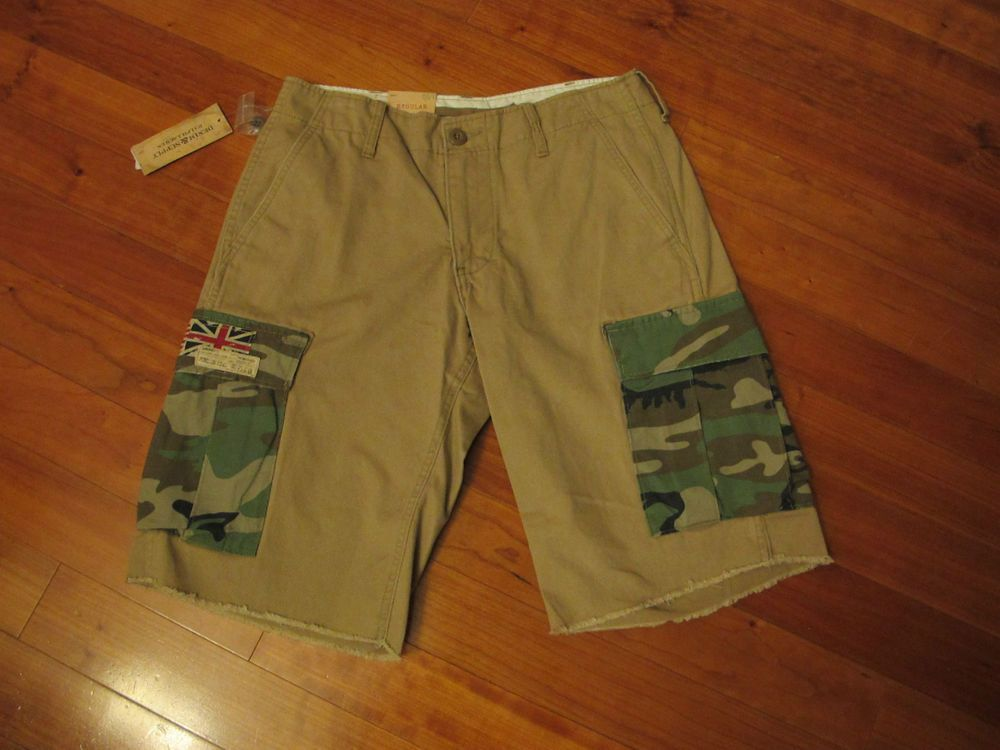 from $29.5 - #RalphLauren Polo Denim & Supply Mens Shorts Size 29 New Nwt Khaki Cargo Tan