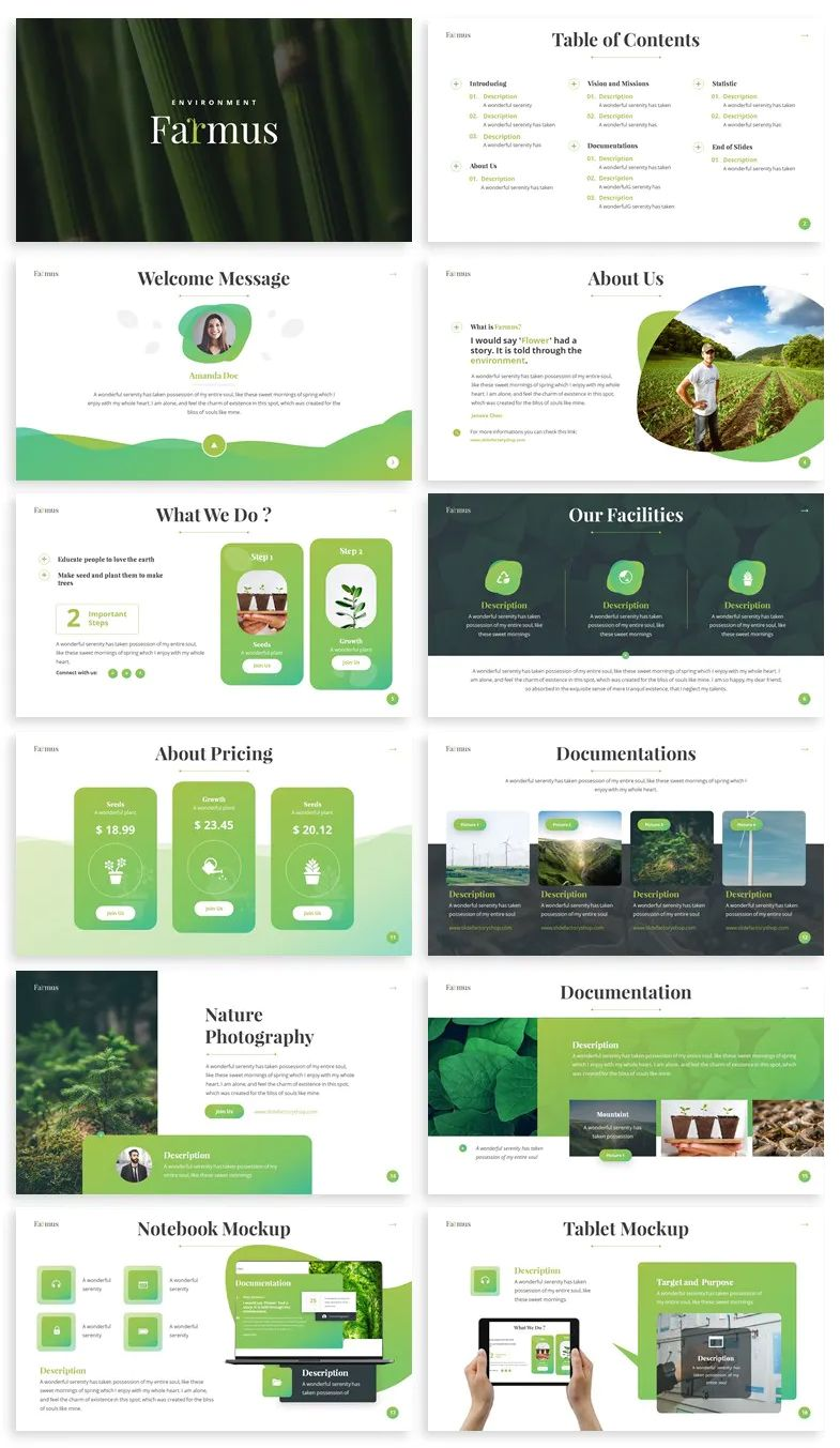 Environment PowerPoint Template Download Powerpoint