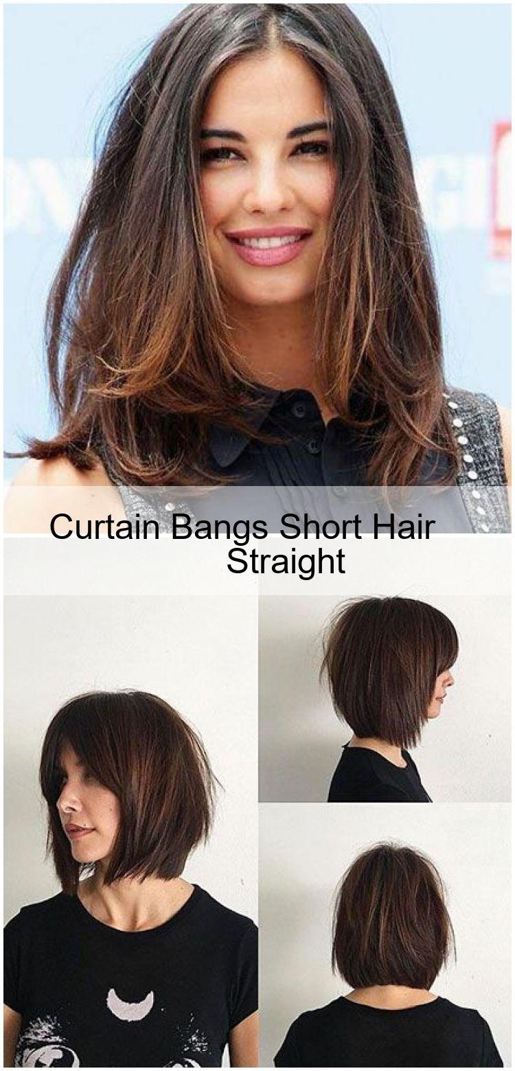 Curtain Bangs Short Hair Straight In 2020 Kurze Haare Mit Pony Haarschnitt Kurze Haare