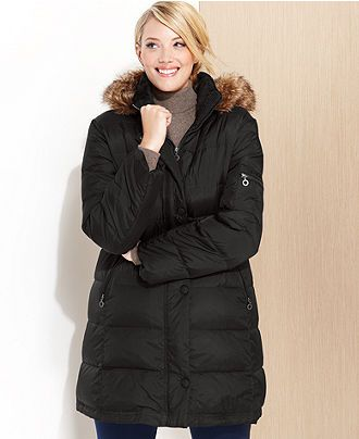 6046a2d9867 DKNY Plus Size Coat