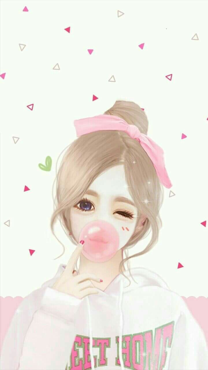 Wallpaper Cute Korean Girl Cartoon Pin Oleh Wanda Reverol Di Dise 241 Os Celulares Di 2019