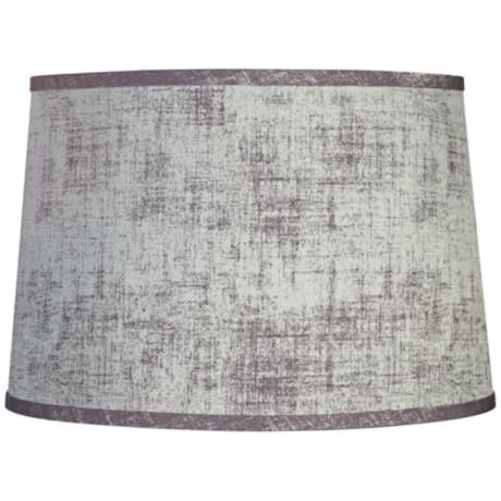 Silver Gray Drum Lamp Shade 14x16x11