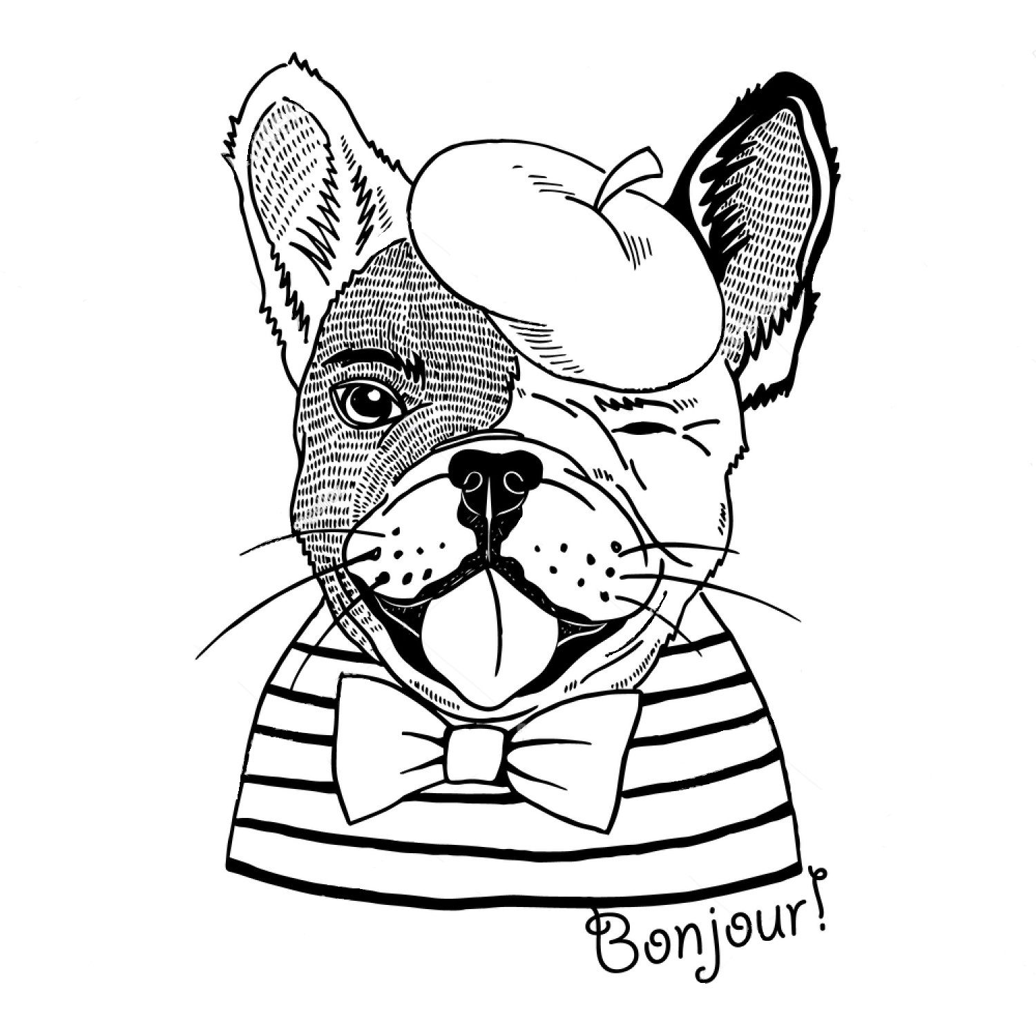 French Bulldog Coloring Page Dog Coloring Page Puppy Coloring