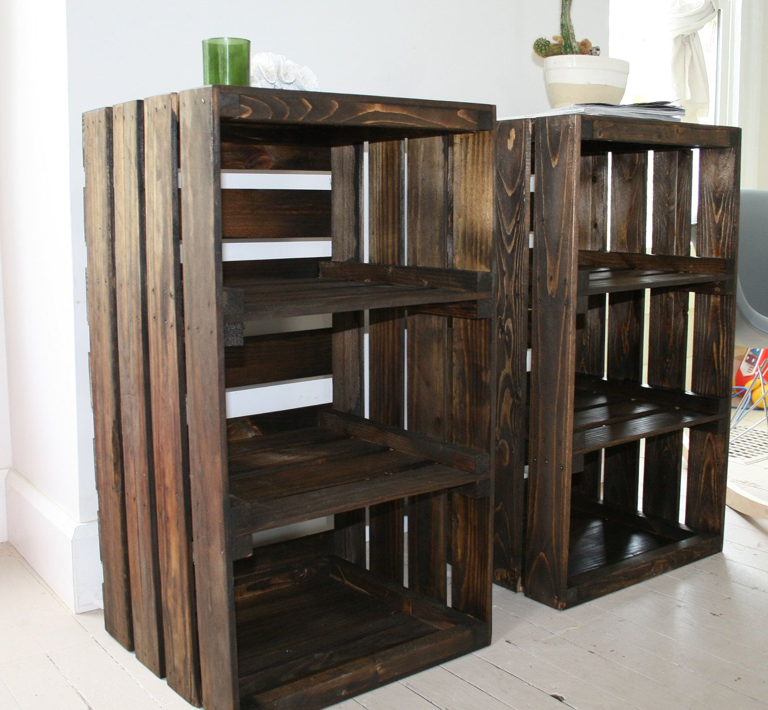 WOOT! Just Got These For Our Bedroom. Wood Crate Handmade Table Furniture  Nightstand.