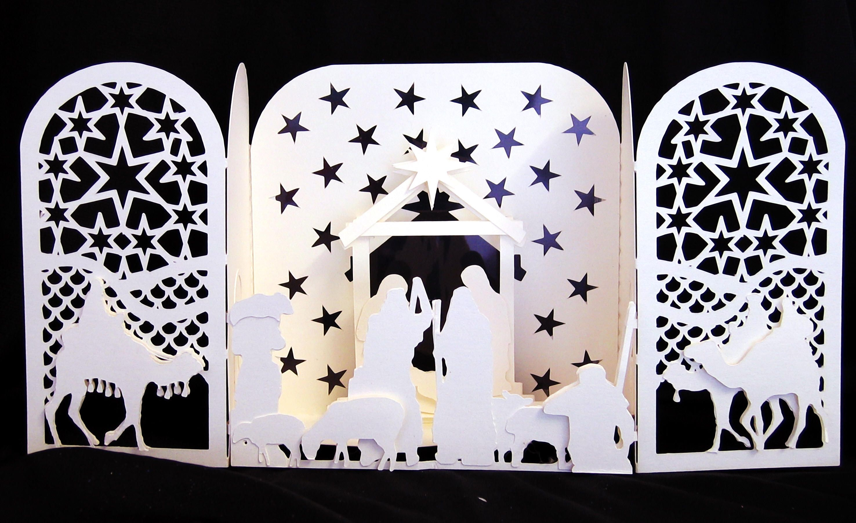 Gate of Nativity by Linda C.M. Griffiths Nativity crafts