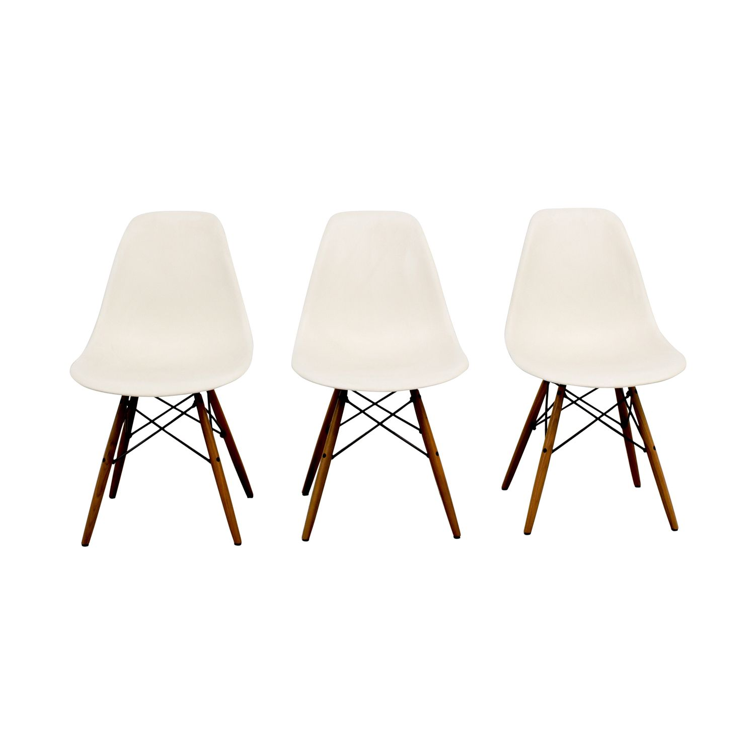Eames Molded Plastic Side Chairs With Images Eames Molded Plastic Side Chair Side Chairs Chair