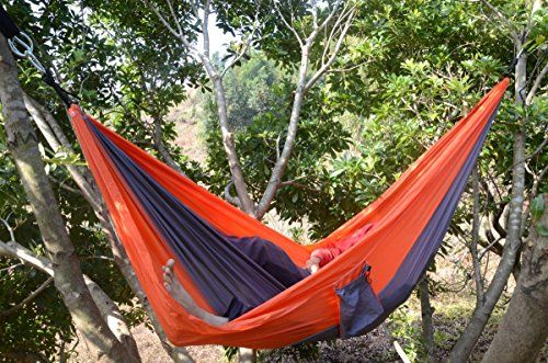 Hiking Hammock Chair Double Parachute Camping Hammock Chair 275x140 Cm Anwing Includes Stretch Resistant Tree Strap Hiking Hammock Hammock Camping Camping Cot
