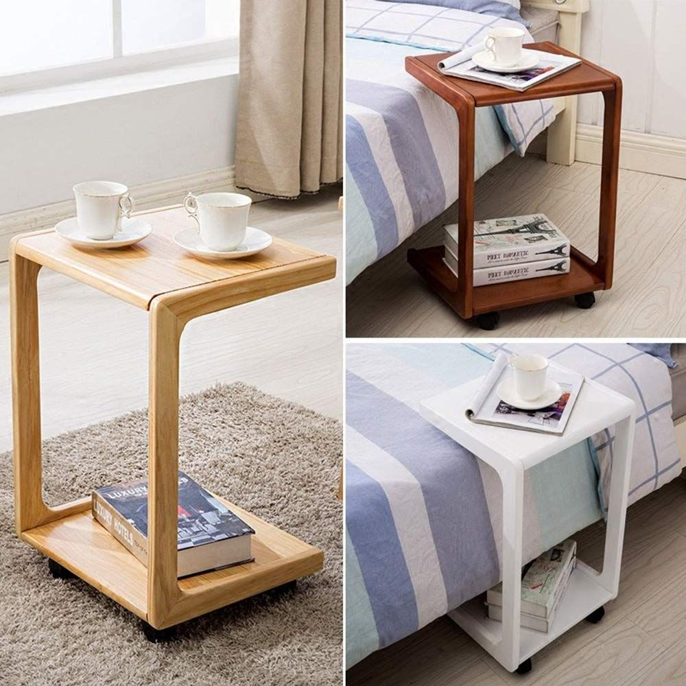 Sed Multifunction Small Table Household U Shaped Sofa Side Birch