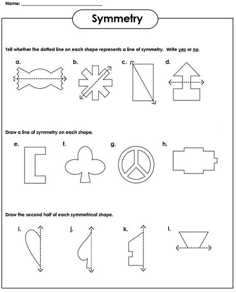 Symmetry Worksheets Symmetry Worksheets Everyday Math Symmetry Math