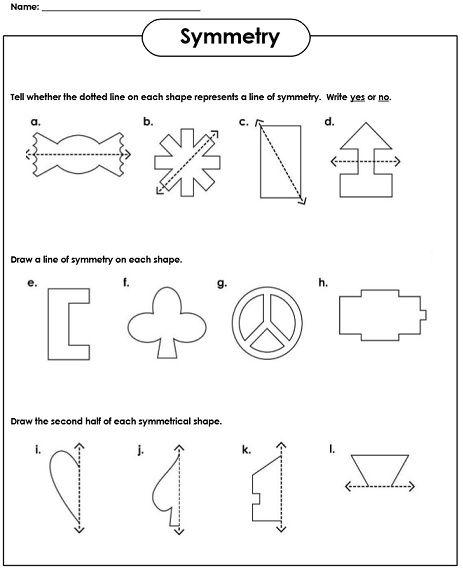 Symmetry Worksheets Symmetry worksheets Worksheets 2nd
