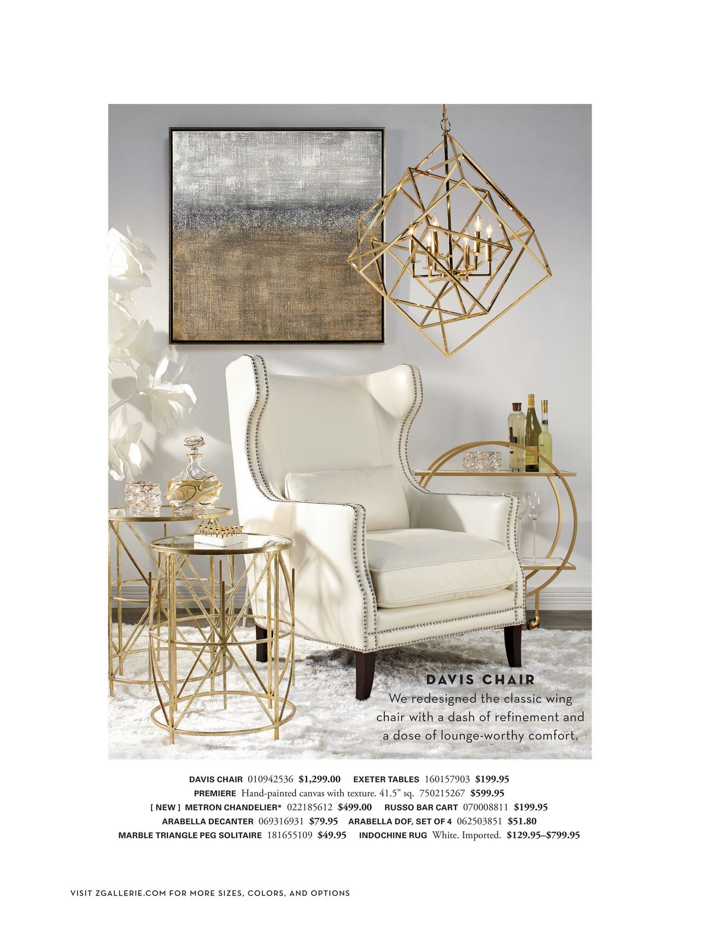 Z gallerie art first always davis accent chair inspiration