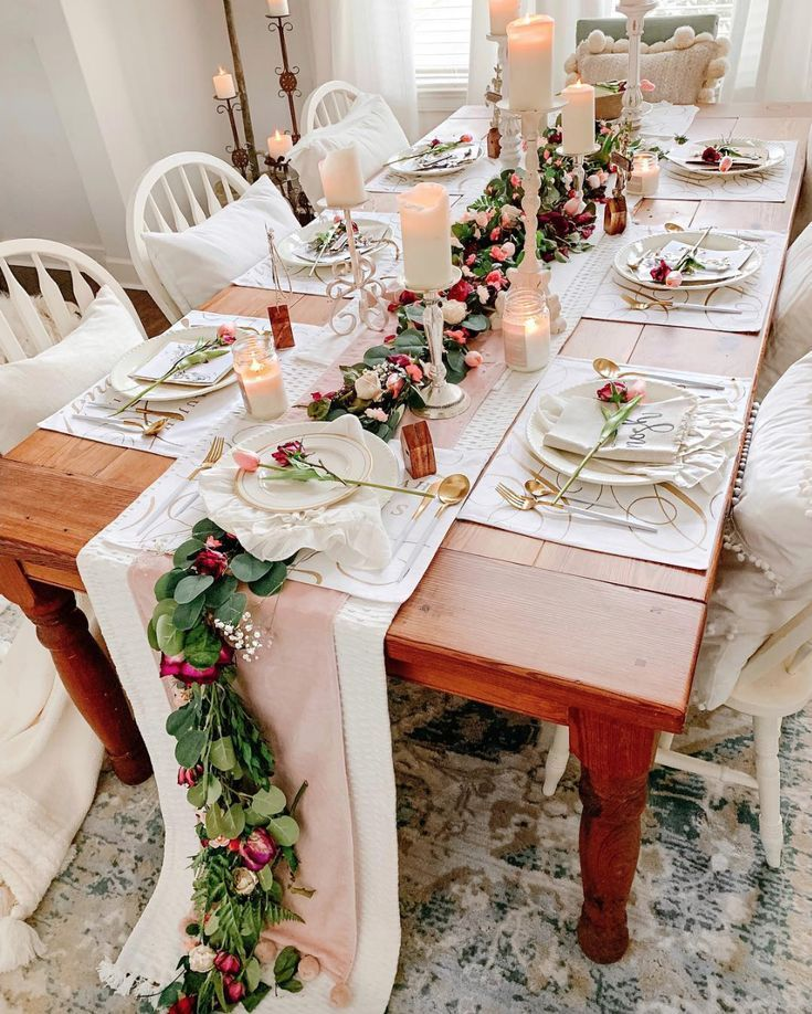 Dining Room Curtains To Create New Atmosphere In Perfect: Spring Dining Room Table Setting Decor Inspiration By