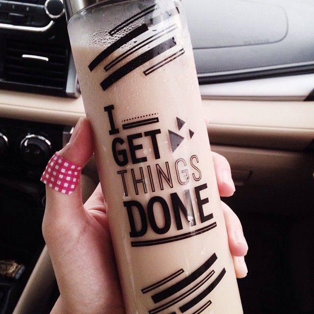 """""""Get things done!  Otw to werq with @aicaleenlatay09."""""""