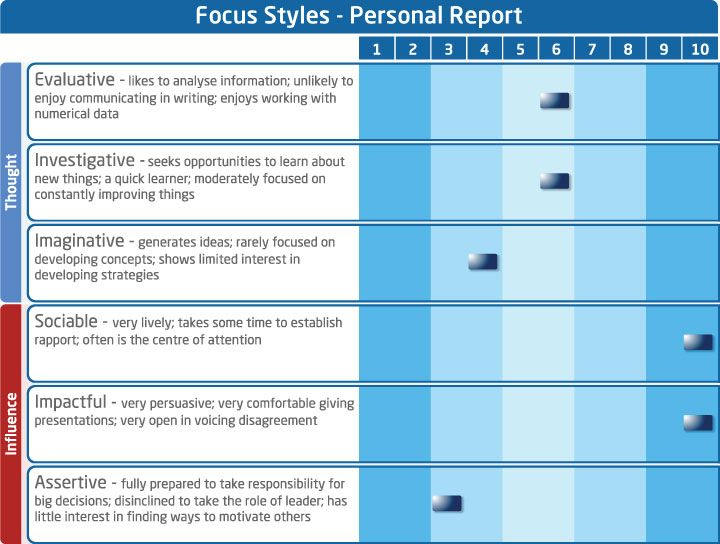 Saville Consulting Wave Personal Report - Focus Styles | Work