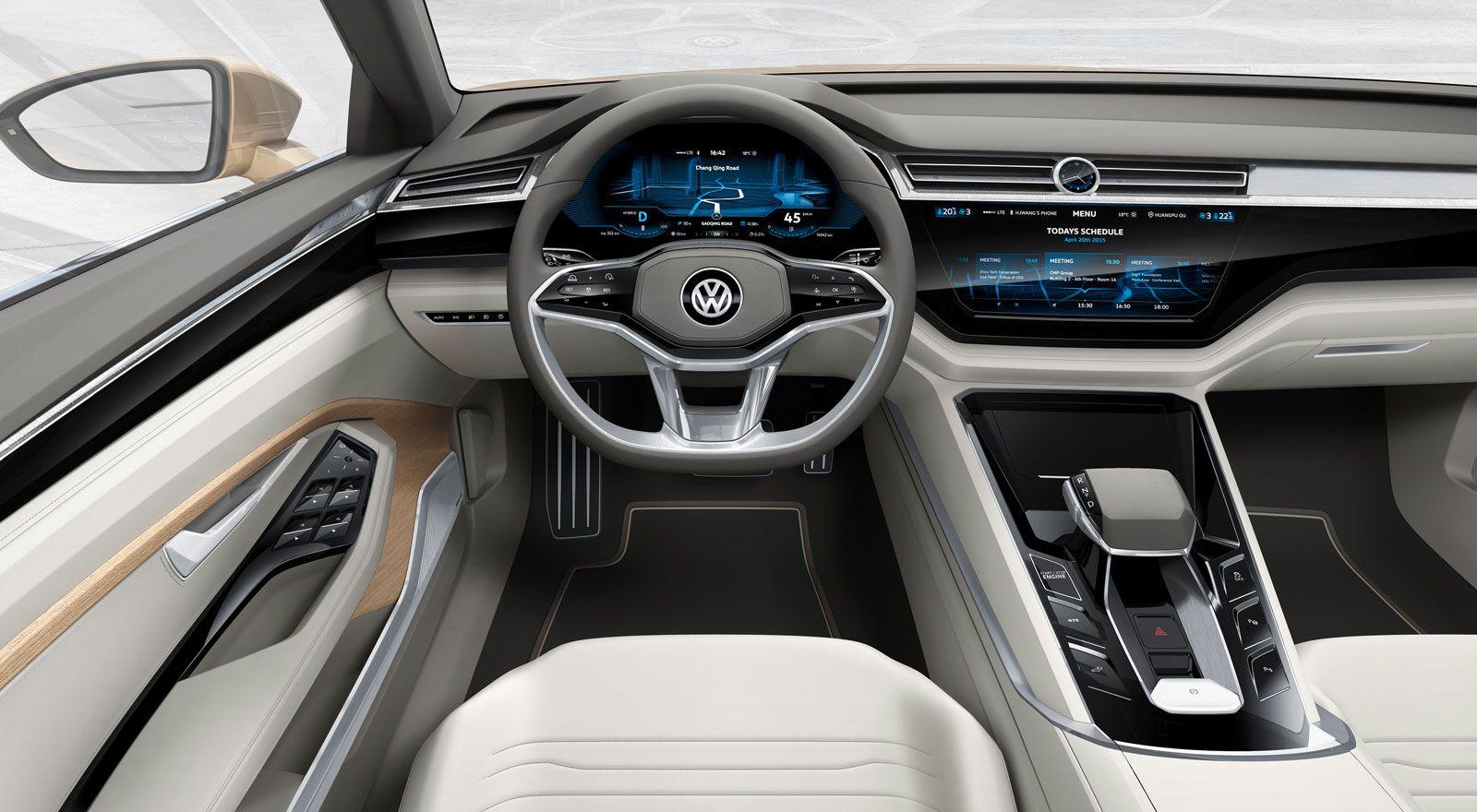 Volkswagen C Coupe Gte Concept Interior Render Volkswagen Phaeton Vw Sharan Volkswagen Jetta
