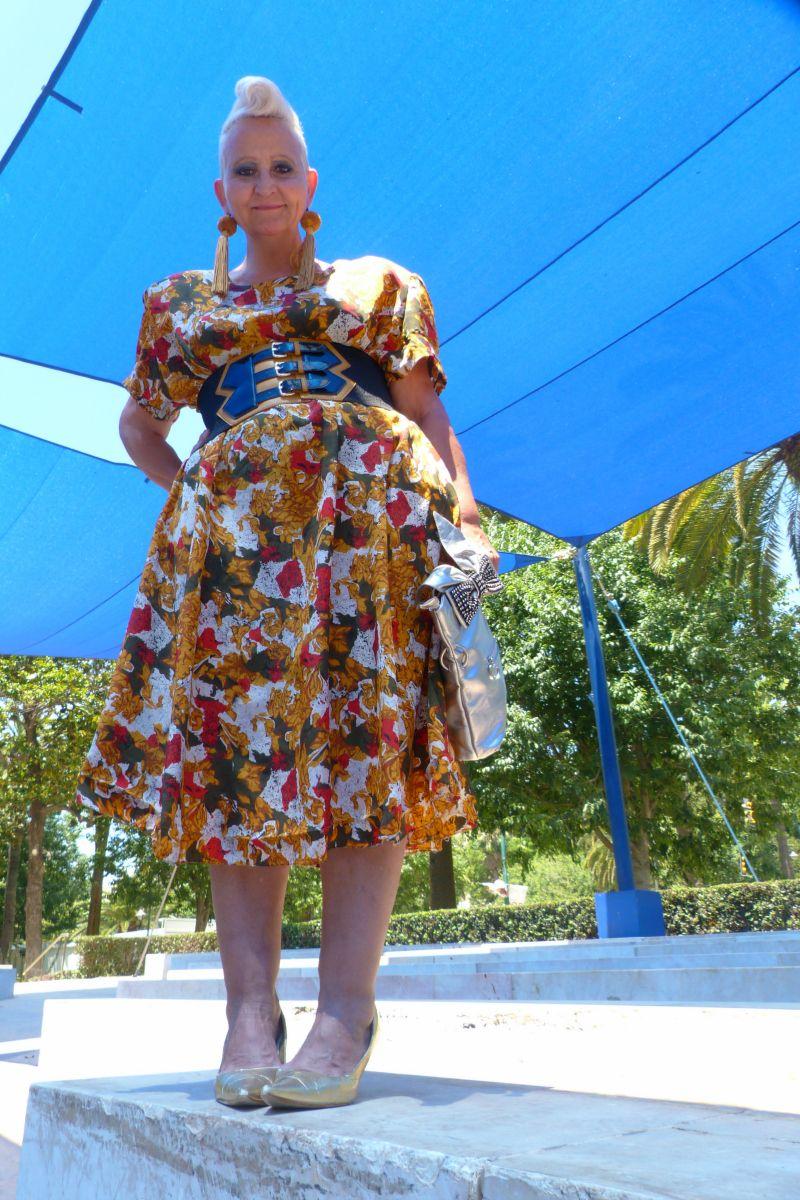 Abstract Print Summer Dress