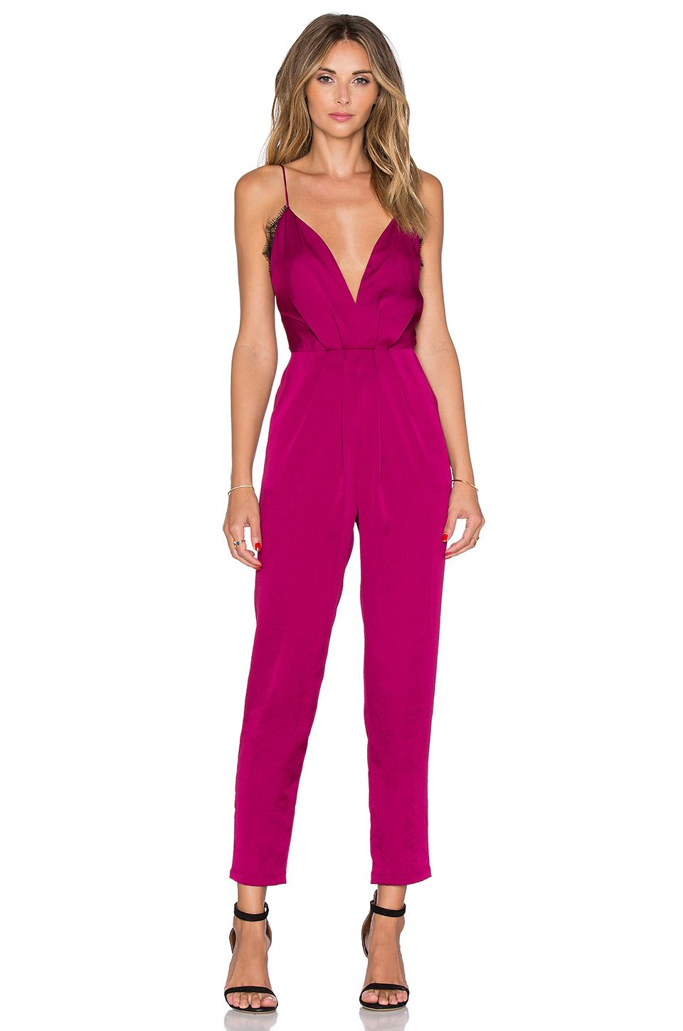 Lovers + Friends My Way Jumpsuit in Berry | buy next | Pinterest ...
