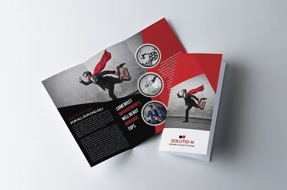 Business Trifold Brochure Template by Business Flyers on