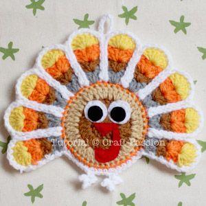 Crochet Pattern: Turkey Coasters And Ornaments