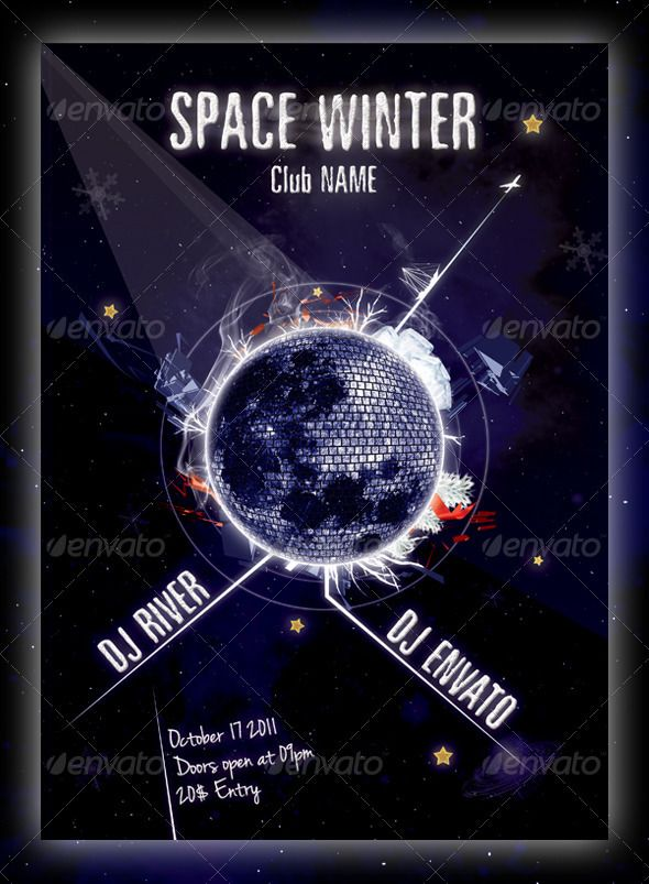 Space Winter Flyer Template Flyer template, Template and Spaces - winter flyer template