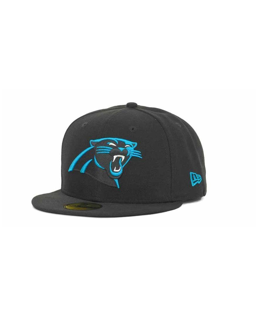 promo code 50f03 12355 New Era Carolina Panthers Nfl Black Team 59FIFTY Cap