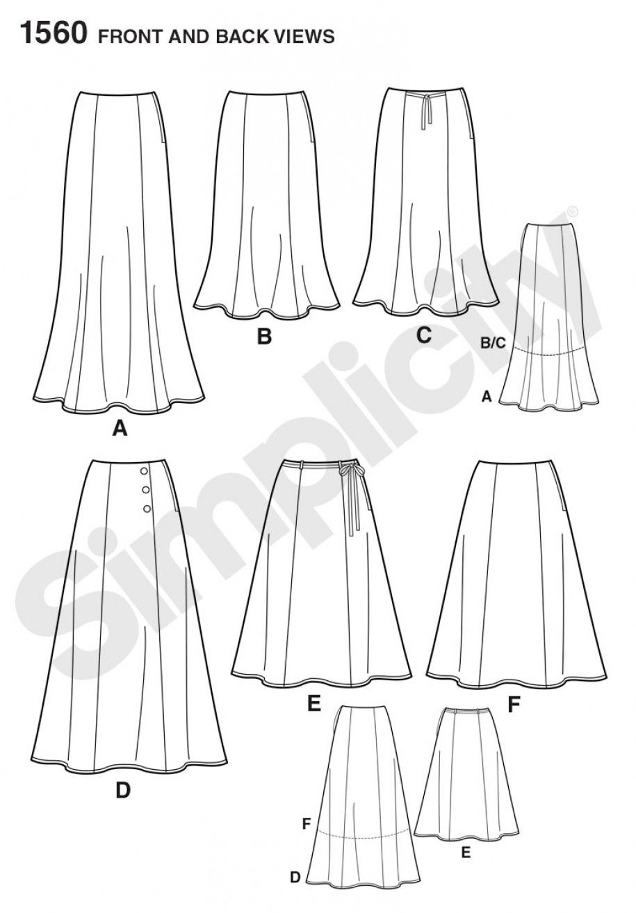 Simplicity 1560 misses skirts each in two lengths sewing pattern simplicity 1560 misses skirts each in two lengths sewing pattern jeuxipadfo Choice Image