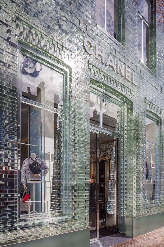 Amsterdam glass brick facade by MVRDV for Chanel