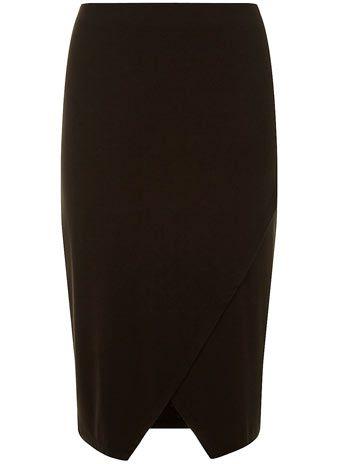 Black asymetric wrap skirt