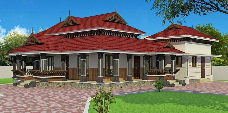 Exceptional 3 Bedroom Tradition Kerala Home With Nadumuttam Part - 10: Kerala Traditional Home Desgin With Nadumuttam