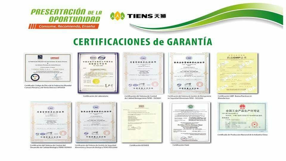 Todos nuestros suplementos estan certificados y garantizados
