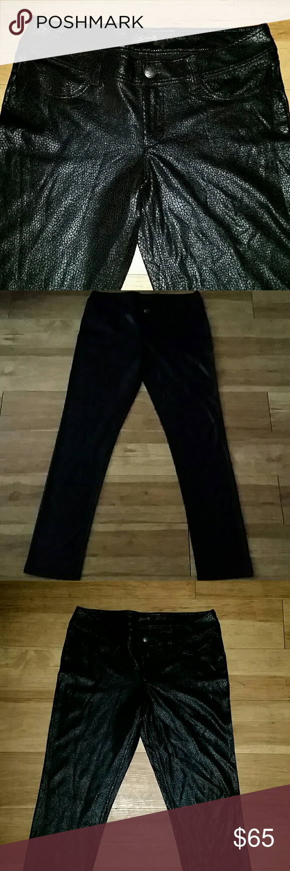 Seven7 animal print jeans Black color, in like new condition, spandex Seven7 Jeans Skinny