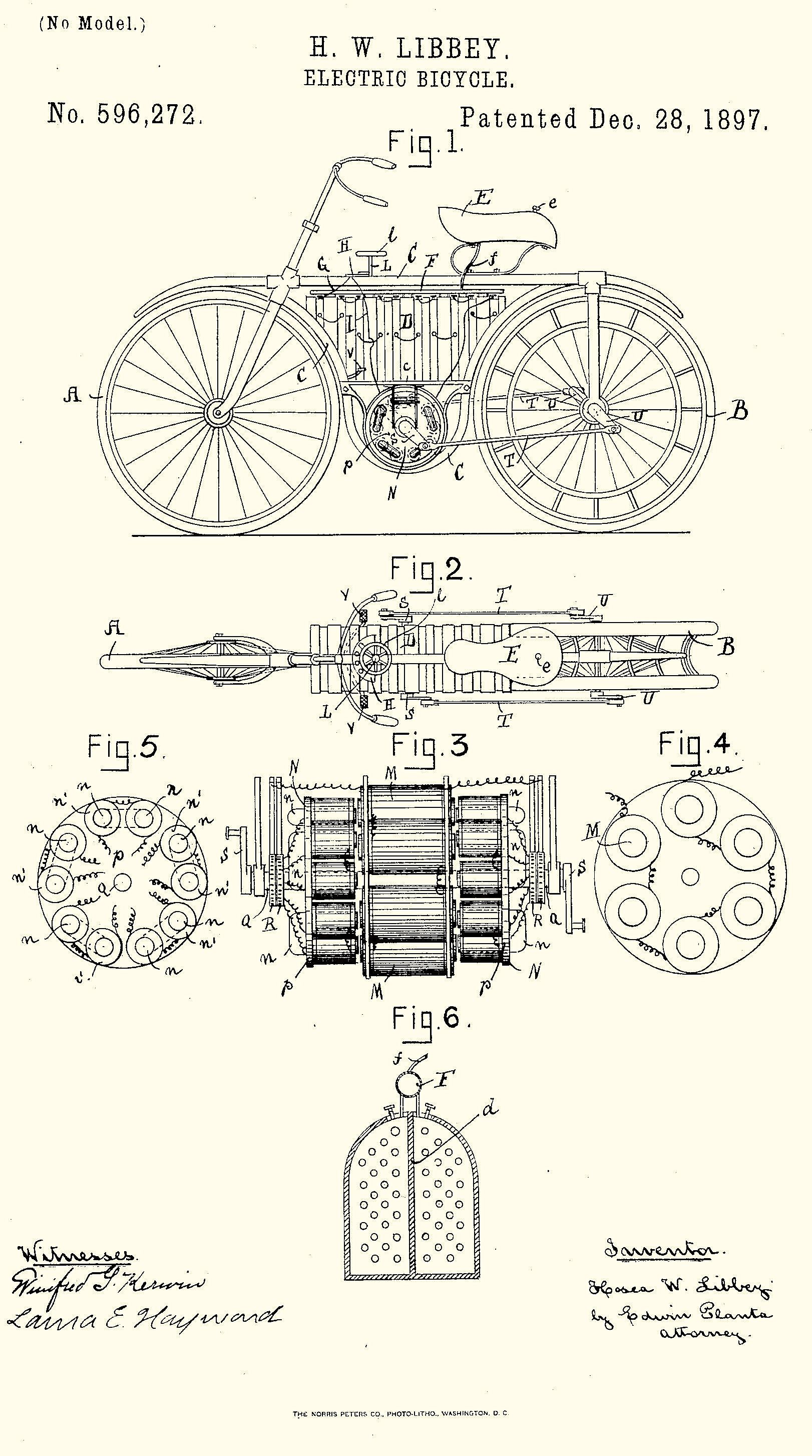 H W Libbey S Electric Bicycle Silodrome With Images