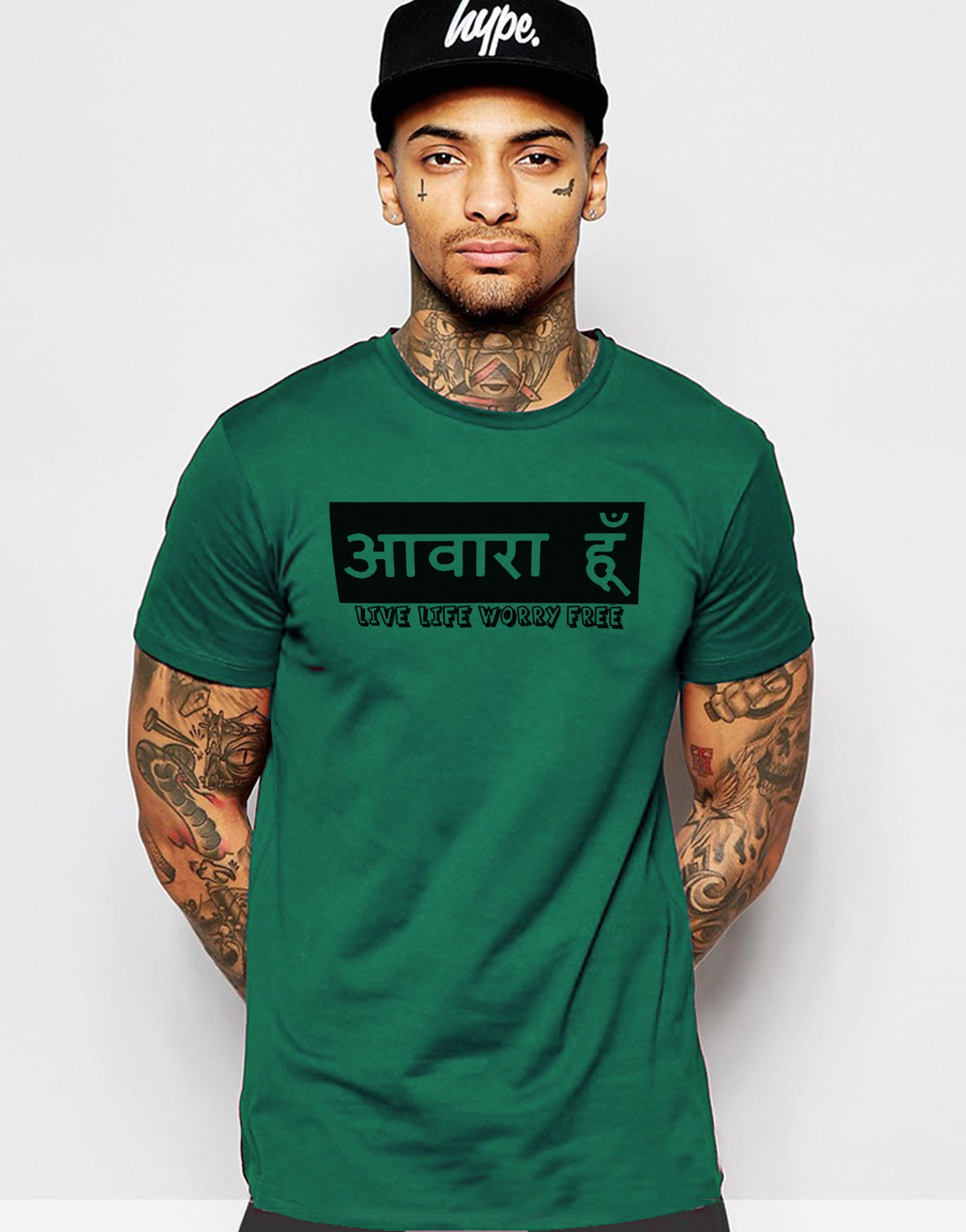 Young Trendz Printed Men's Round Neck T-Shirt - Buy Dark Green Young Trendz  Printed