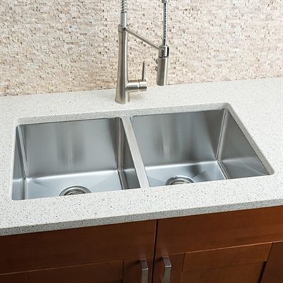 Shop Hahn ZR00 Small Radius Double Bowl Stainless Steel Sink at ...