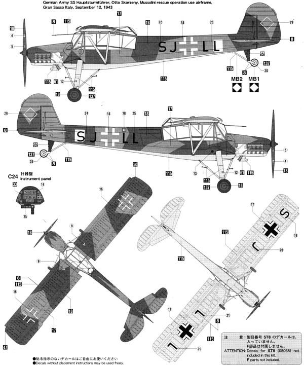 Fi 156 Storch Color Profile and Paint Guide