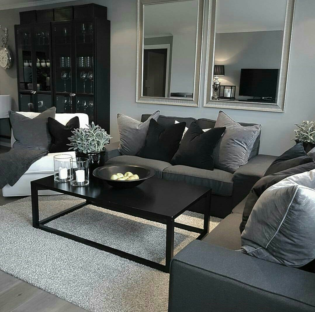 Pin By K E N Y A On Home Decor Living Room Living Room Grey Black Living Room Living Room Decor Cozy