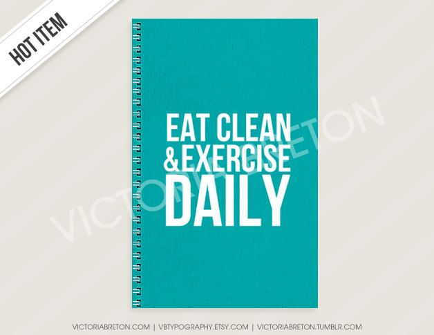 IN STOCK Eat Clean  Exercise Daily - workout journal - fitness