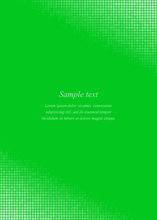 Green page corner design template #invitation #presentation - letter of presentation