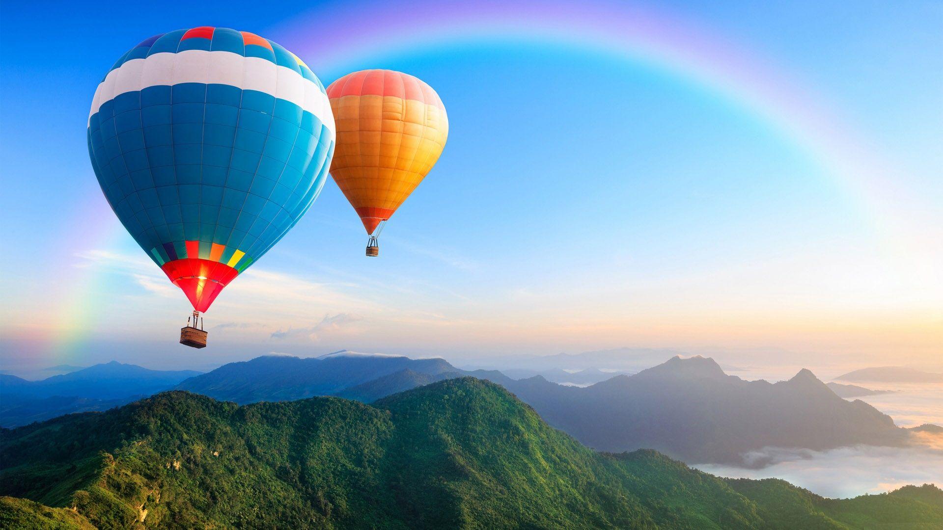 Обои Облака, Пейзаж, воздушный шар. Авиация foto 16