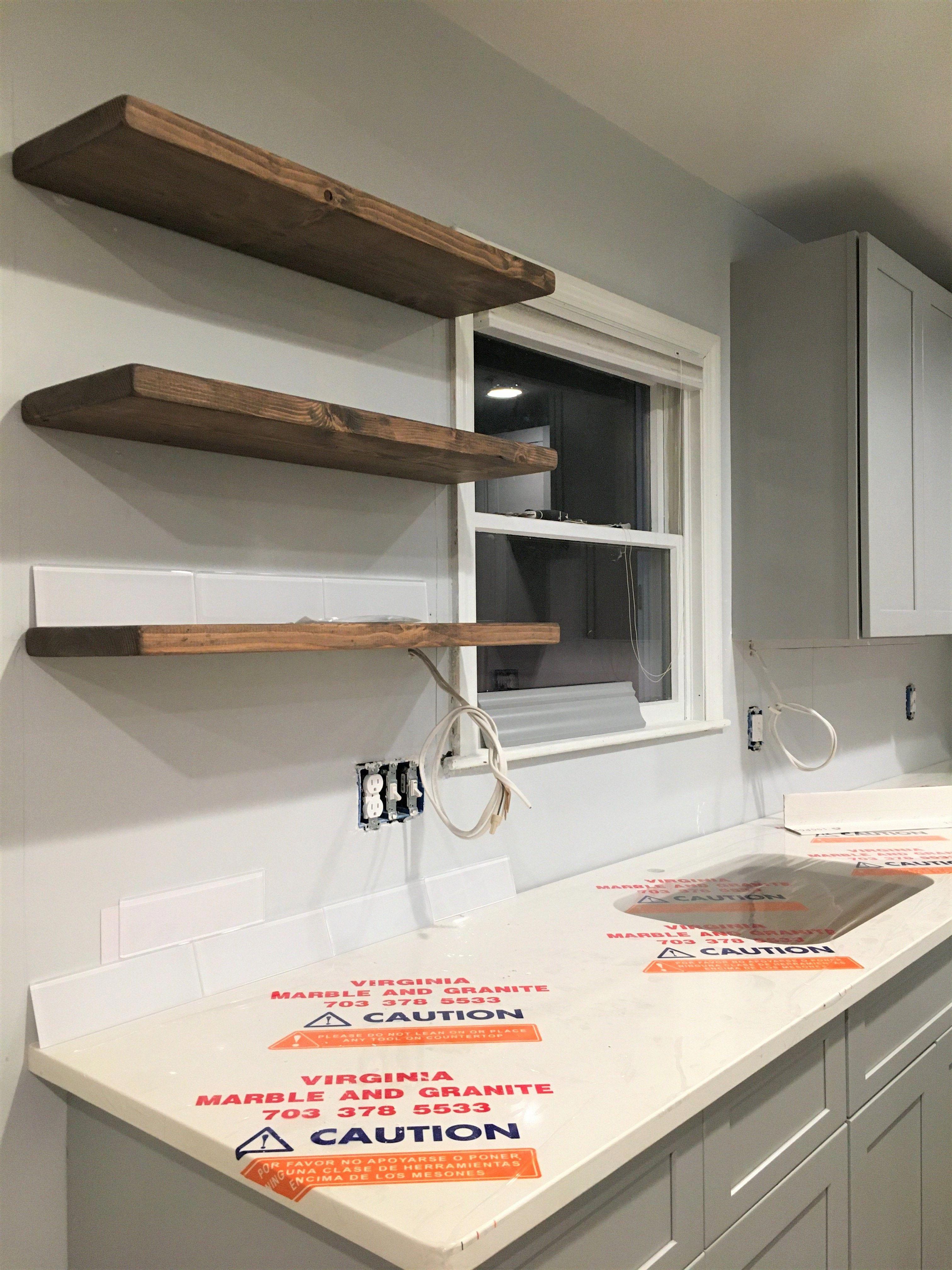 Kitchenshelves In 2020 Floating Shelves Diy Floating Shelves Kitchen Farmhouse Kitchen Decor