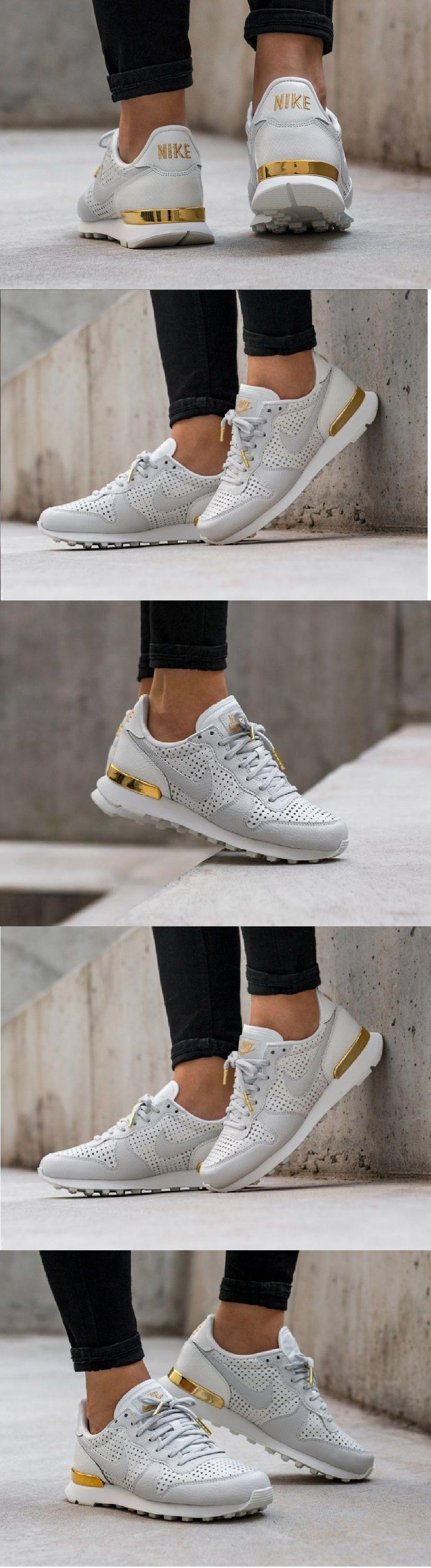 on sale 94ae3 cd79c  Nike  Internationalist  Premium  White  Metallic  Gold