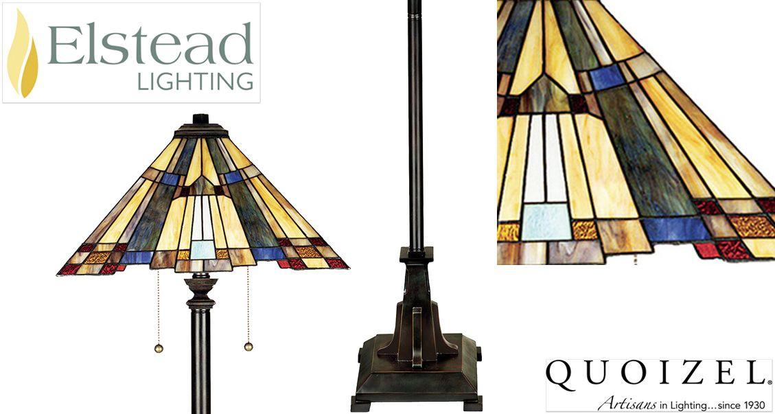 Elstead Quoizel Inglenook Tiffany Floor Lamp Valiant Bronze Qz