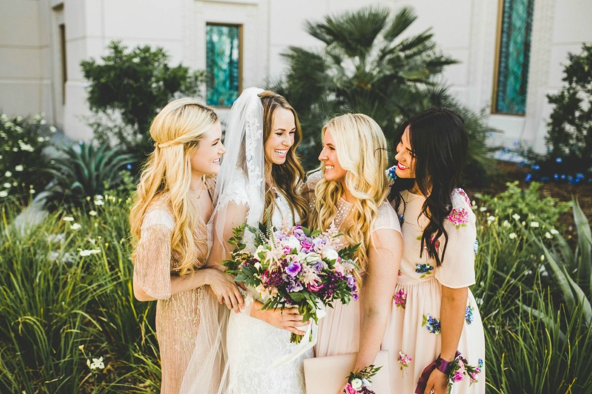 love this trend for bridesmaids dresses