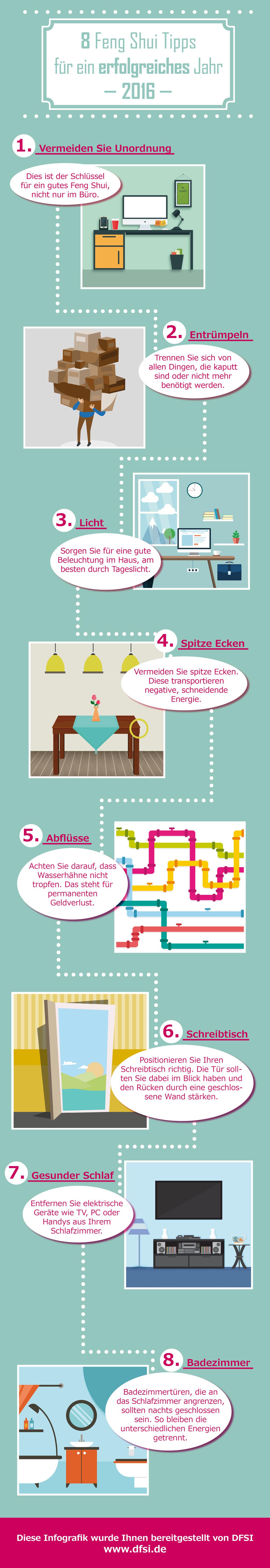8 Feng Shui Tipps | Feng Shui Infographics | Pinterest | Feng shui ...