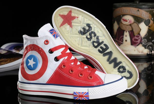 Harper Beckham Converse UK Flag High Tops White Red Canvas Transparent Soles Shoes [128481] - $62.00 : Discount Converse All Star Sneakers Sale,Converse All Star Sandals,Comics and Womens Platform Sneakers