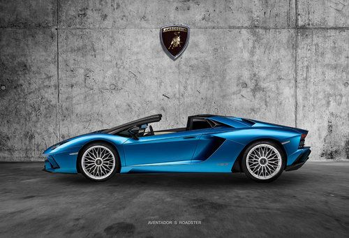 Lamborghini Aventador S Roadster Fine Art Canvas Prints