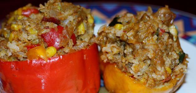 طريقة عمل خلطة المحشى Stuffed Peppers Recipes Barbacoa Recipe