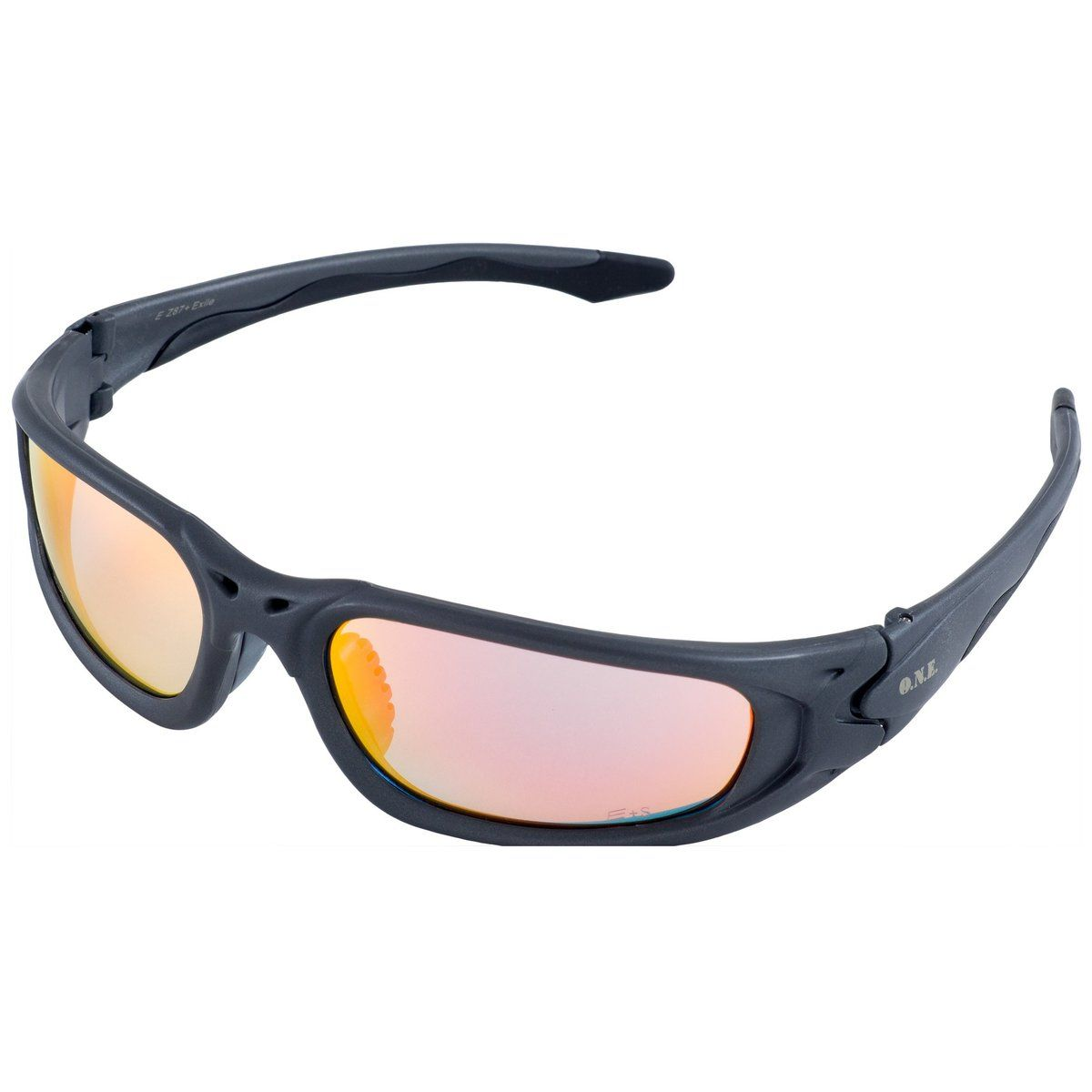 ERB One Nation Exile Gray Revo Gold Mirror Safety Glasses