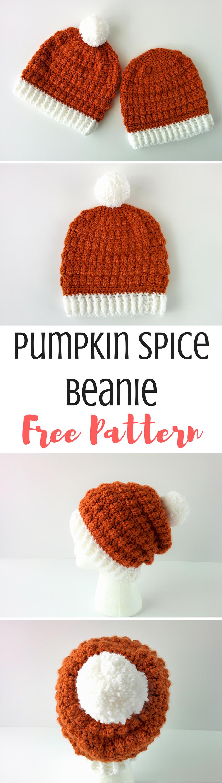 Pumpkin Spice Beanie: Easy Double Crochet Beanie Pattern | crochet ...